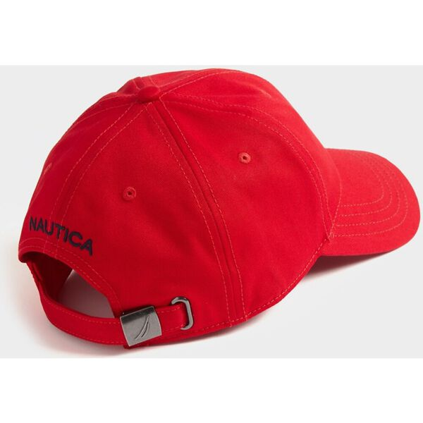 Oversized J-Class 6-Panel Cap, Nautica Red, hi-res
