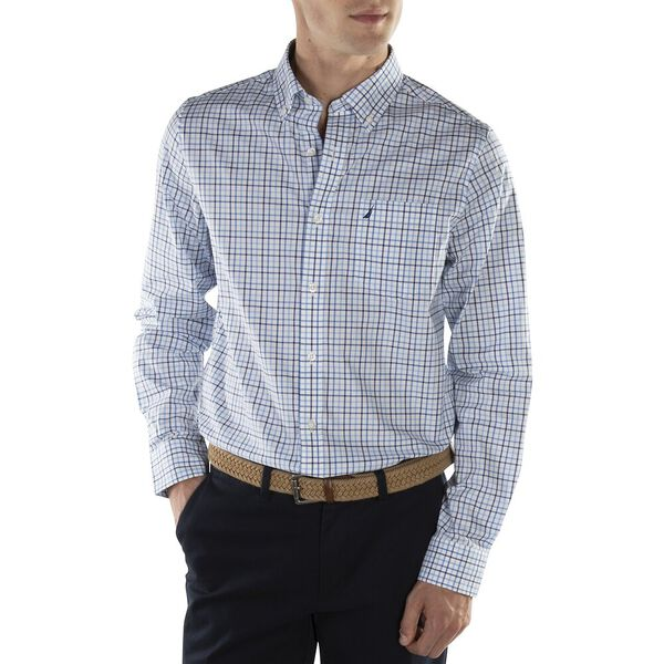 Plaid Wrinkle Resistant  Shirt, Little Boy Blue, hi-res