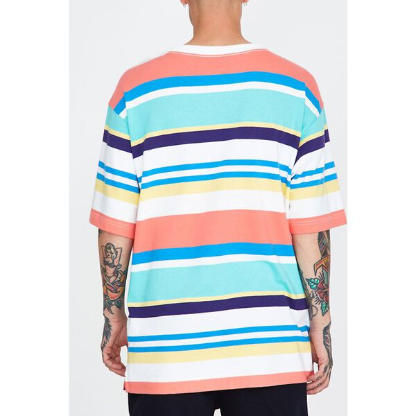 Stripe T-Shirt Breezy Blue, Breezy Blue, hi-res