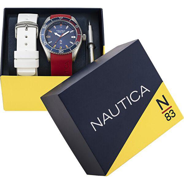 Finn World Multi Strap Box-Set Watch, Red/ White, hi-res