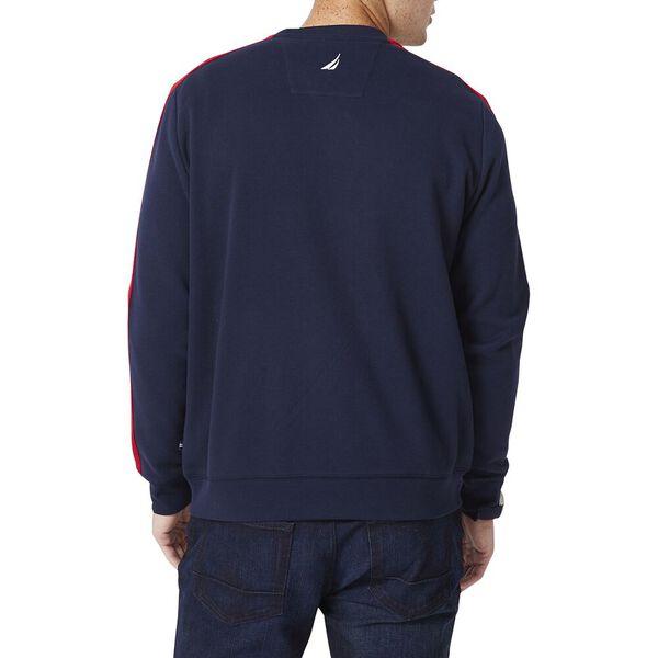 Big & Tall Nautica Stripe Sweater, Navy, hi-res