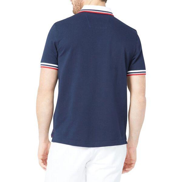 Solid Logo Polo Shirt, Navy, hi-res