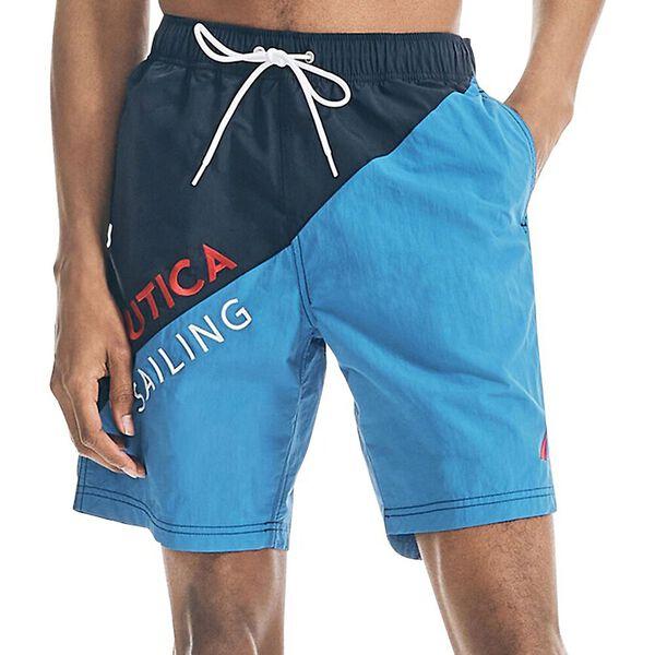 "Nautica Sailing 9"" Swim Shorts, Spinner Blue, hi-res"