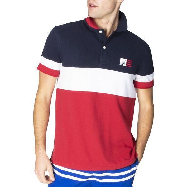 Classic Fit Colourblock Polo, Navy, hi-res