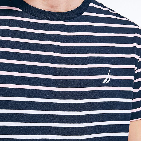 Balanced Stripe Tee, Navy, hi-res