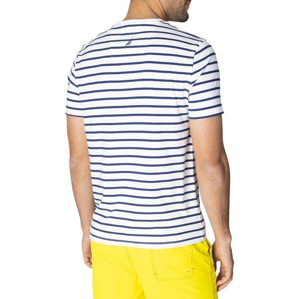 Nautica Colourblock Short Sleeve Stripe Tee, Bright White, hi-res