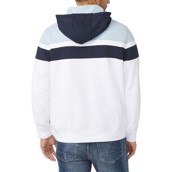 Slim Fit Colourblock Pullover Hoodie, Bright White, hi-res