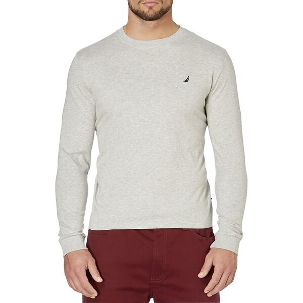 Classic Fit Long Sleeve Tee, Grey Heather, hi-res