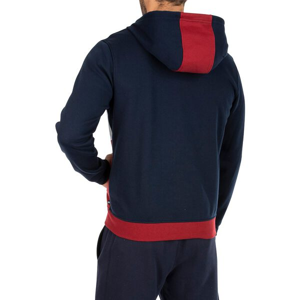 Colourblock Full Zip Hoodie, Navy, hi-res