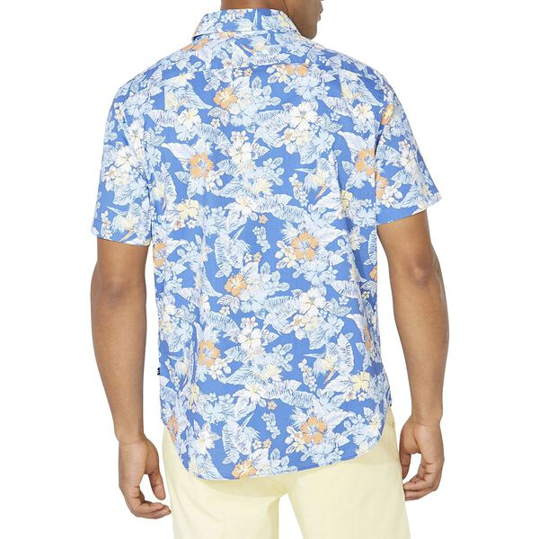 Classic Fit Spring Party Short Sleeve  Shirt, Windsurf Blue, hi-res