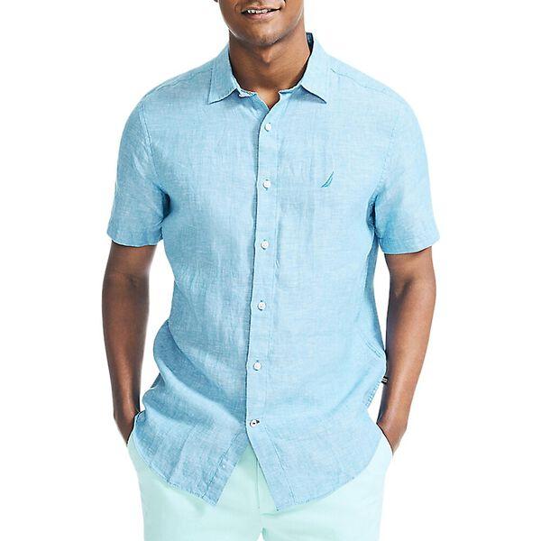 Classic Fit Linen Shirt, Clear Skies Blue, hi-res