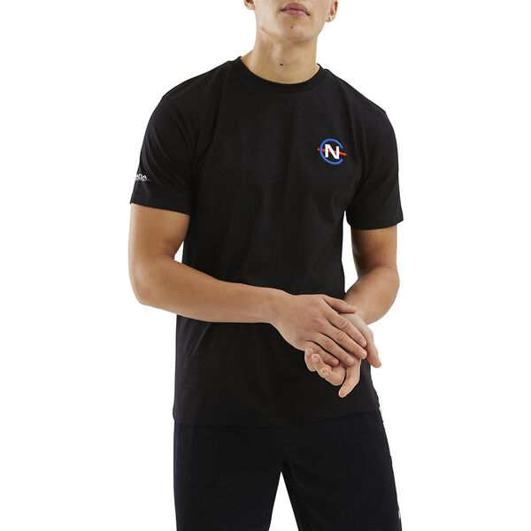 Nautica Competition Patroon Tee, Black, hi-res