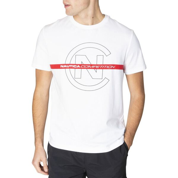 Nautica Competition Logo Tee, Bright White, hi-res
