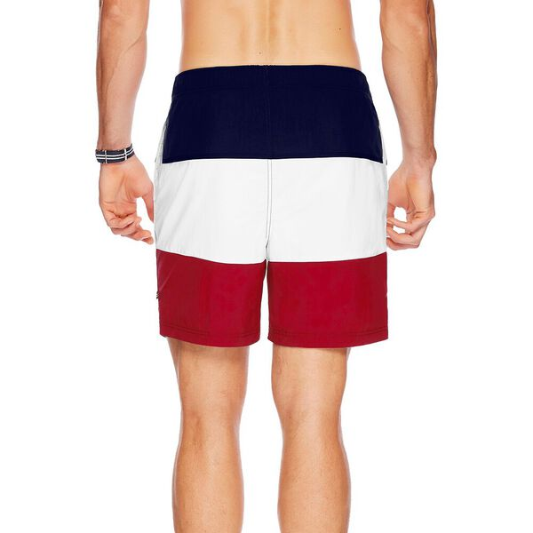 Quick Dry Anchor Swim Shorts, Racer Red, hi-res