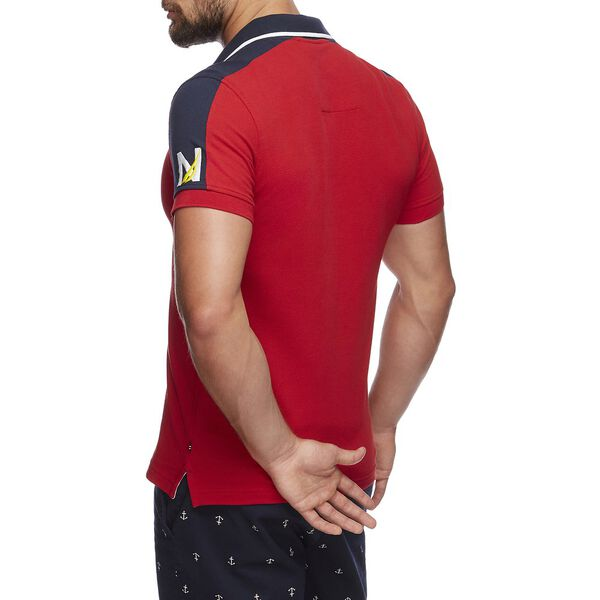 NAVTECH N PANEL J CLASS POLO, NAUTICA RED, hi-res
