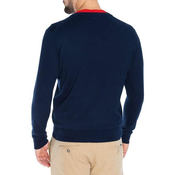 Big & Tall Navtech V Neck Sweater, Navy, hi-res