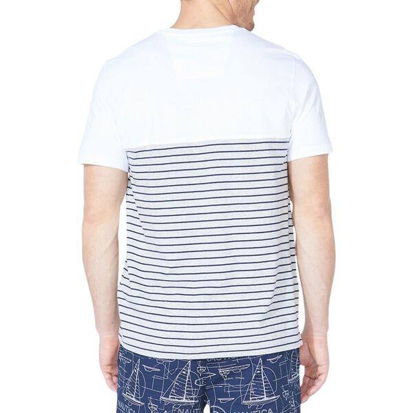 Colourblock Stripe Pocket Tee, Bright White, hi-res