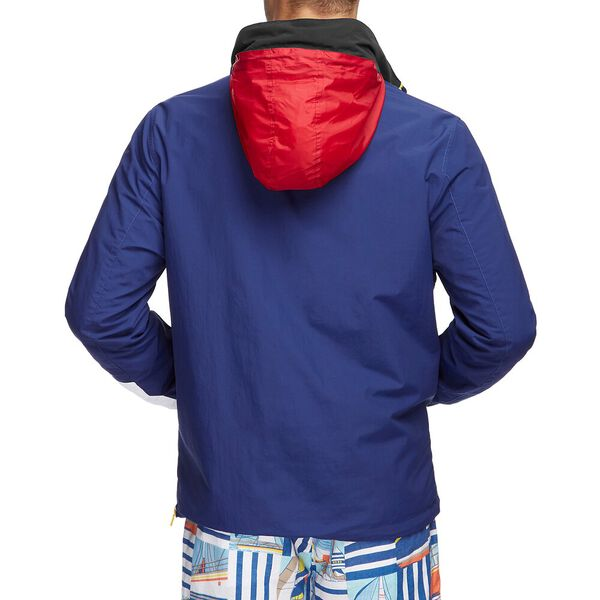 Blue Sail Accent Pull Over Windbreaker, BLUE DEPTHS, hi-res
