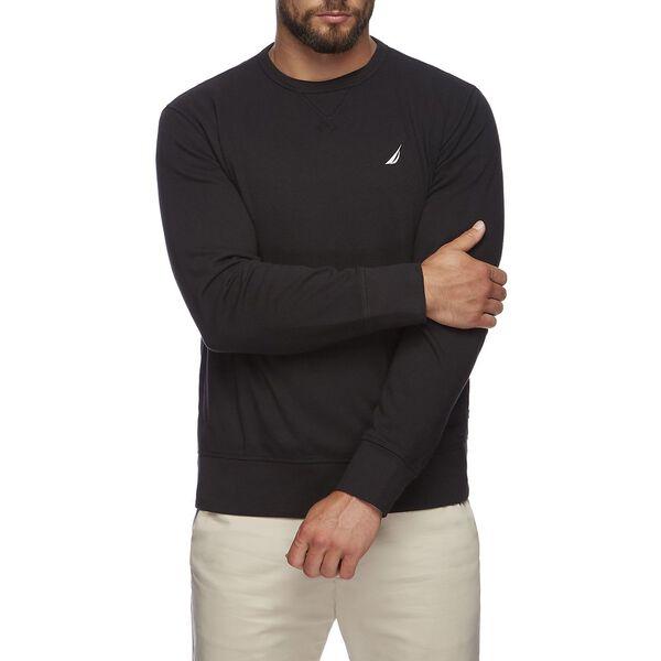 J Class Crew Neck Sweater, True Black, hi-res