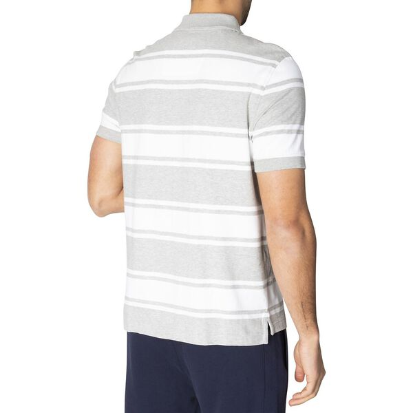 Classic Fit Striped Polo, Grey Heather, hi-res