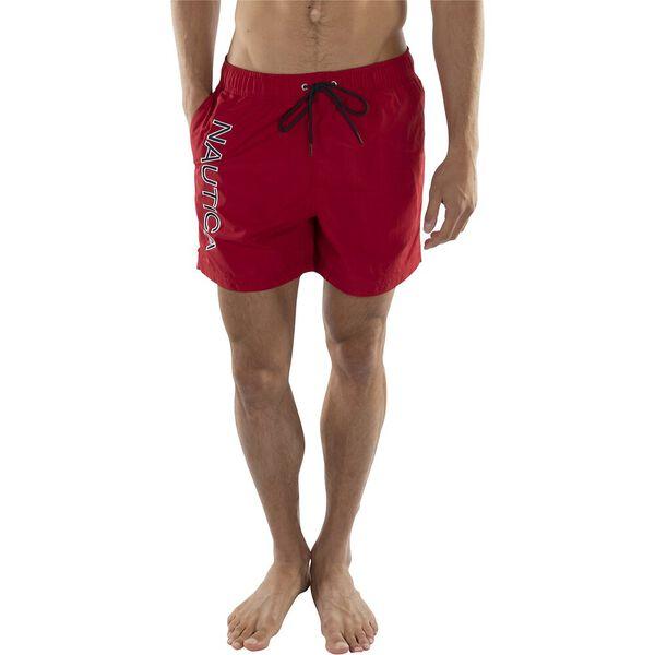 Nautica Embroidered Logo Quick-Dry Swim Short, Nautica Red, hi-res