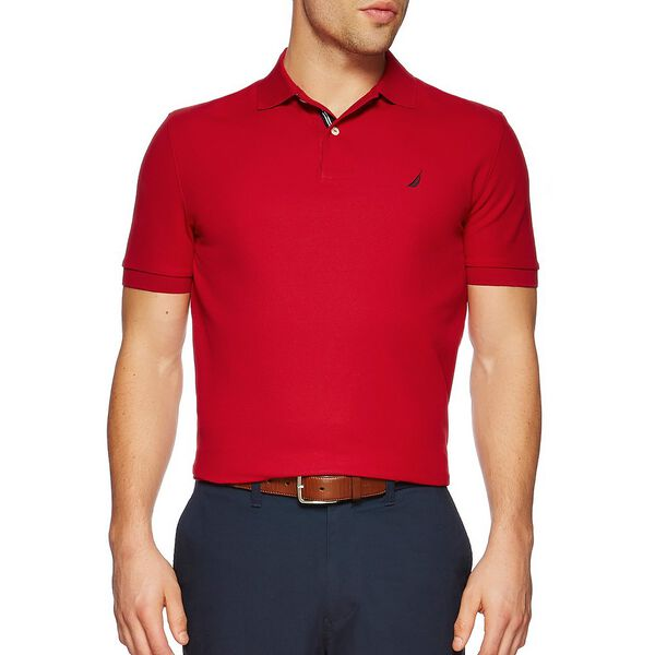 Short Sleeve Performance Deck Polo Shirt, Nautica Red, hi-res