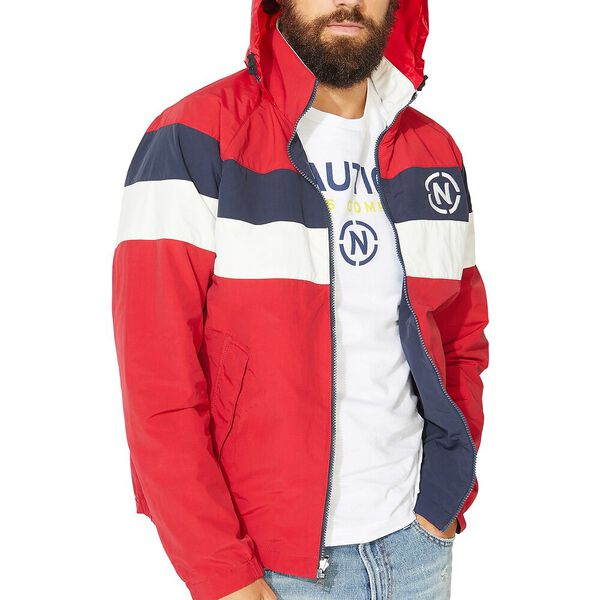 NAUTICA JEANS CO. REVERSIBLE BOMBER JACKET