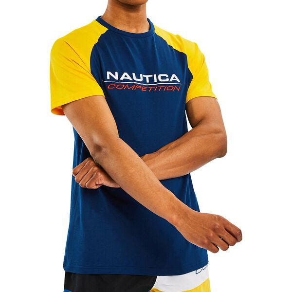 Nautica Competition Yarr Tee, Navy, hi-res