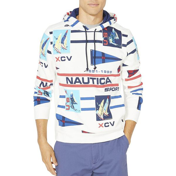 Nautica Ivy Sport Pullover Hoodie, Sail White, hi-res