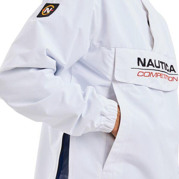 Nautica Competition Cowl 1/4 Zip Windbreaker, White, hi-res