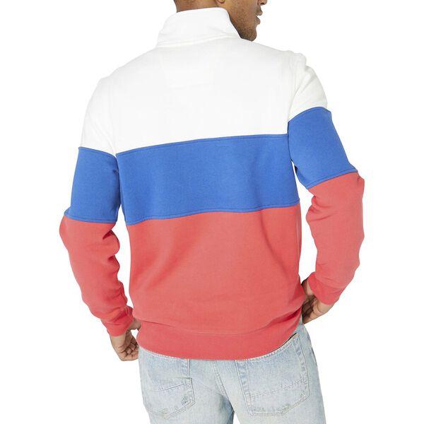Heritage Blocked 1/4 Zip Pullover Sweater, Sail White, hi-res