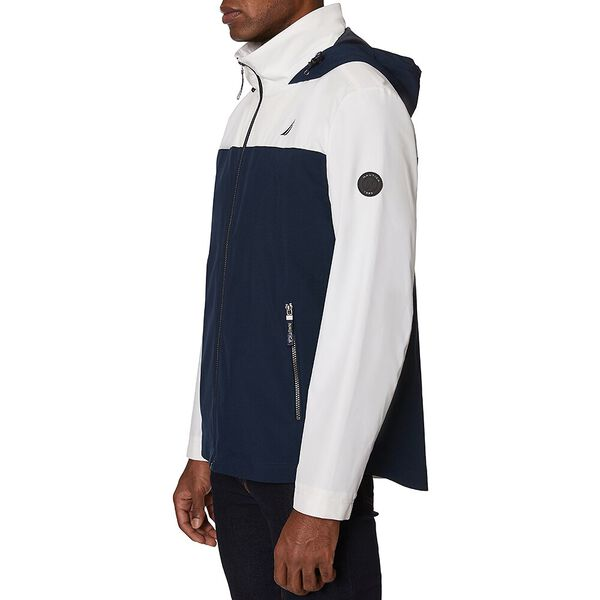 Nautica Colourblock Harrison Windbreaker Jacket, Bright White, hi-res