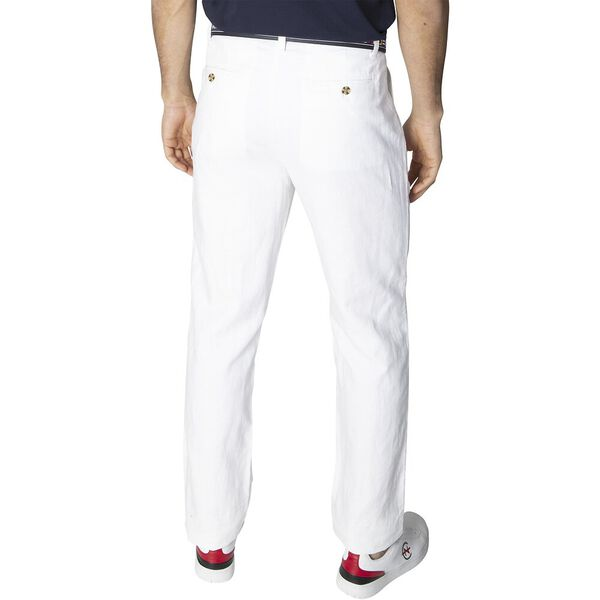 New Classic Cotton Linen Chino Pants, Bright White, hi-res
