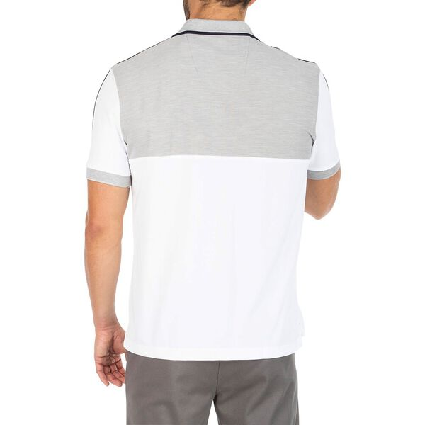 Sustainably Crafted Colourblock Polo, Grey Heather, hi-res