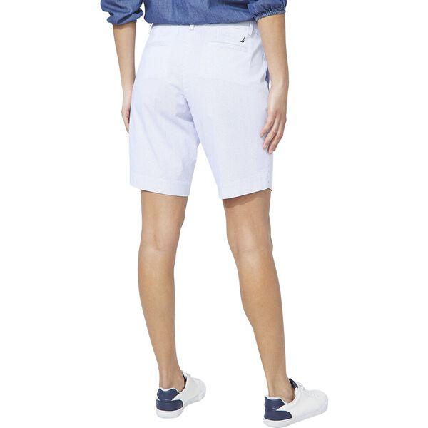 Stretch Beach Stripe Bermuda Short, Bright White, hi-res
