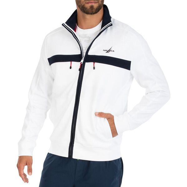 Navtech Double pocket Track Jacket, Bright White, hi-res