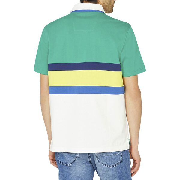 Classic Fit Ivy Colourblock Polo, Pepper Green, hi-res