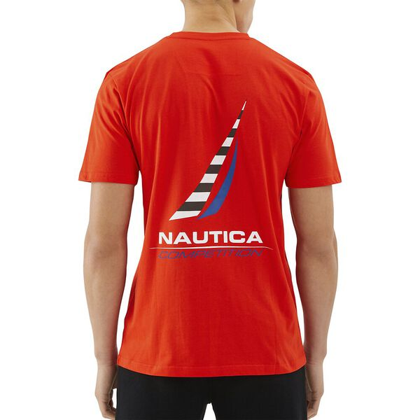 Nautica Competition Afore Tee, Red, hi-res
