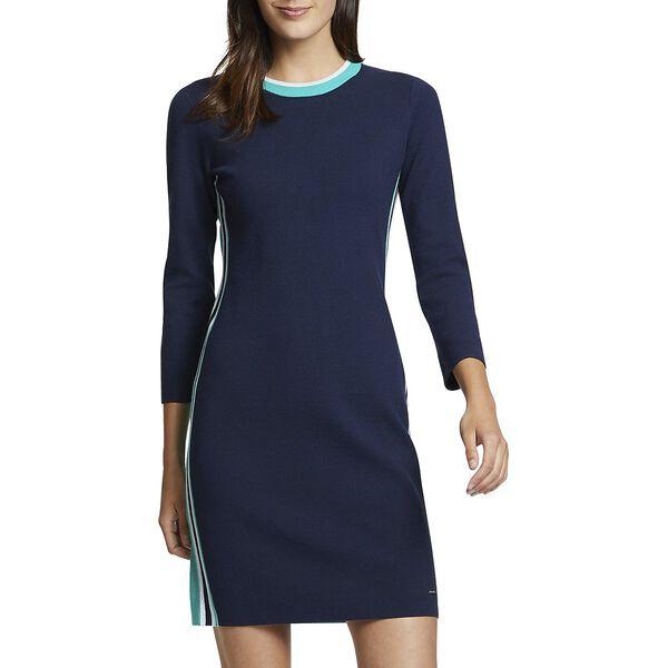 SIDE STRIPE SWEATER DRESS