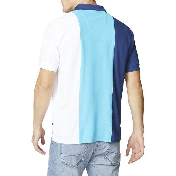 Vertical Colour Block Sailor Polo, Calypso Blue, hi-res