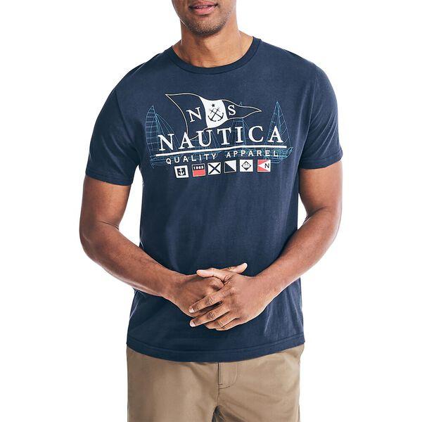 Nautica Sailing Apparel Tee, Navy, hi-res