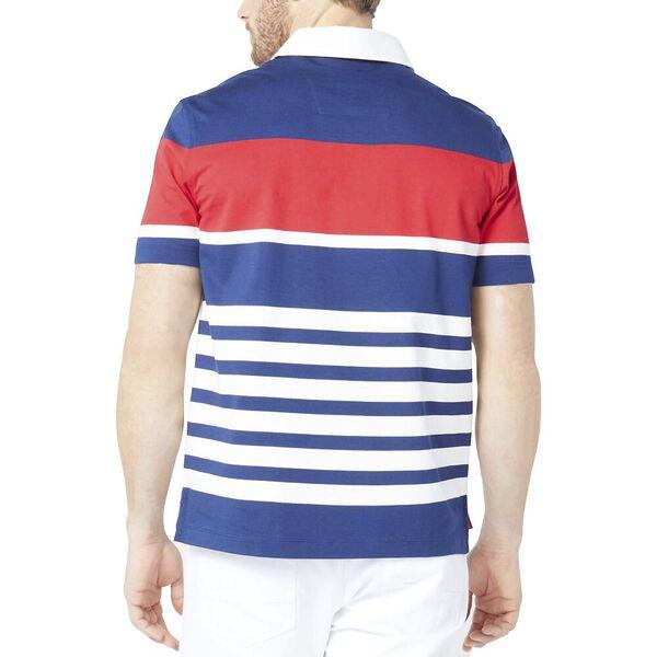 Engineered Gradient Stripe Polo, J Navy, hi-res