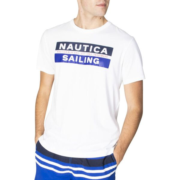 The Sailing Club Short Sleeve Tee, Bright Wht, hi-res