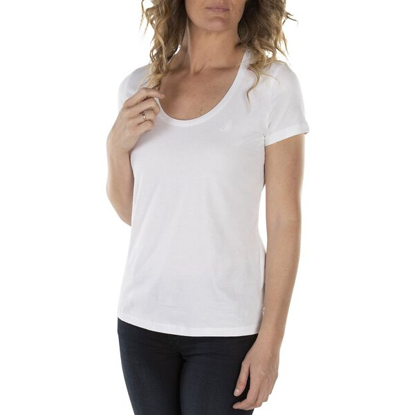 Anchor Scoop Neck Tee, Bright White, hi-res