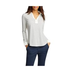 REVERSE STRIPE V NECK TOP