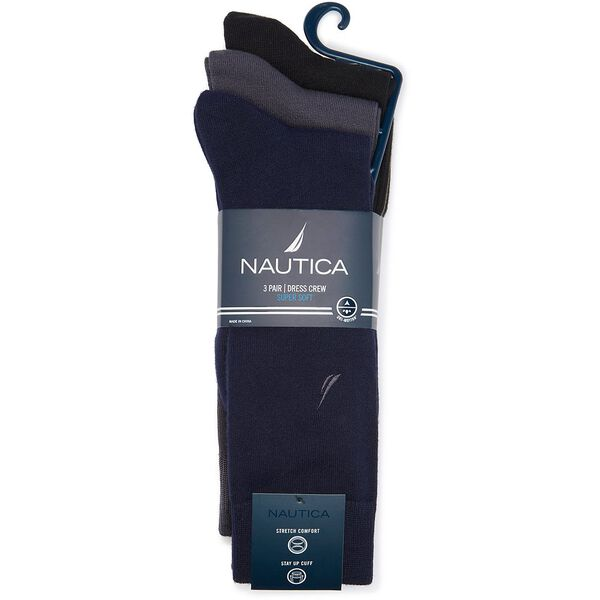 NAUTICA 3 PACK SUPERSOFT DRESS SOCK