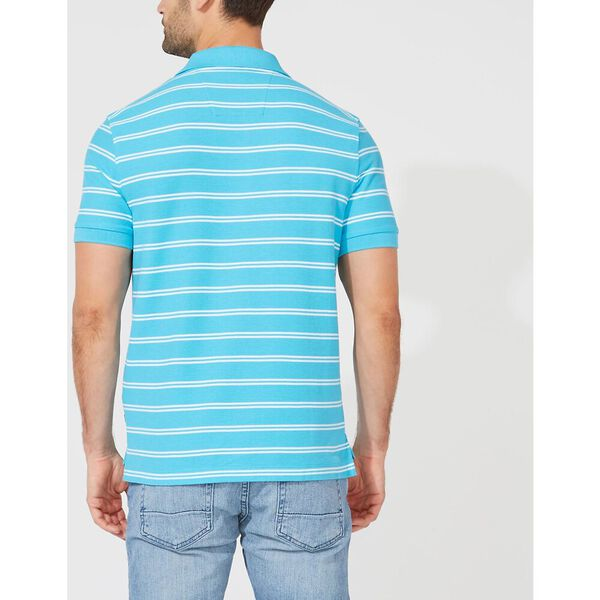 Performance Classic Fit Stripe Deck Polo, Mirage Blue, hi-res