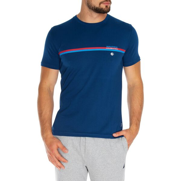NAUTICA COMPETITION STRIPE GRAPHIC TEE, ESTATE BLUE, hi-res