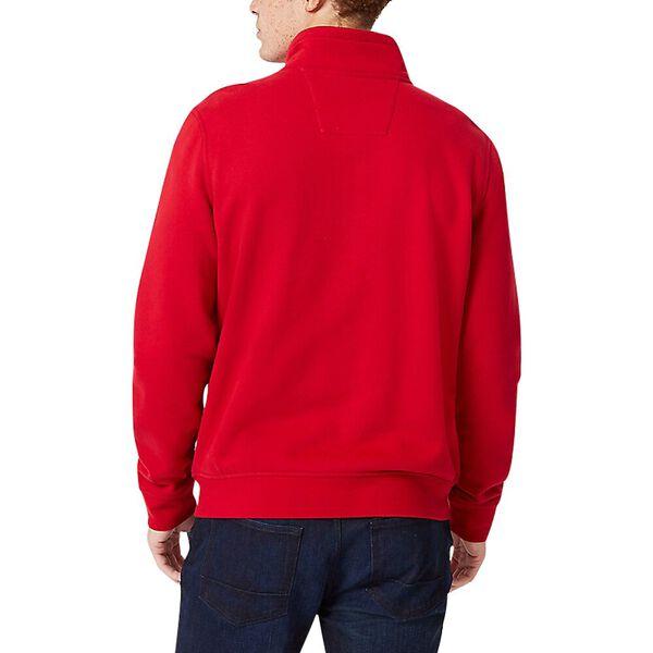 J. Class Pieced Quarter Zip Sweater, Nautica Red, hi-res