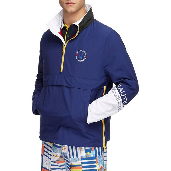 Blue Sail Accent Pull Over Windbreaker